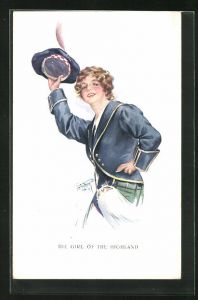 Künstler-AK Court Barber: The Girl of the Highland, junge Schottin