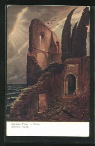 Künstler-AK Arnold Böcklin: Ruine