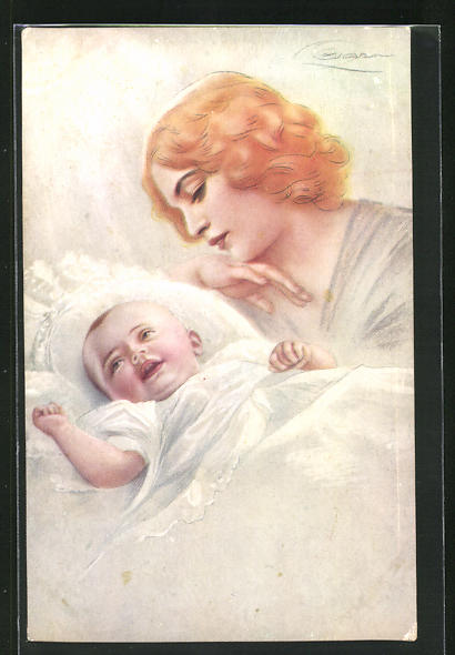 Künstler-AK G. Guerzoni: Mutter und Säugling