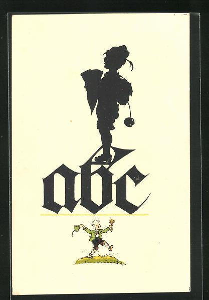 Künstler-AK Georg Plischke: ABC-Schütze mit Zuckertüte