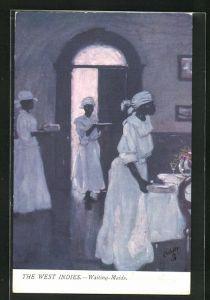 Künstler-AK The West Indies, Waiting-Maids