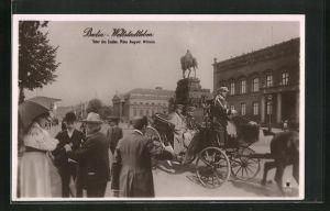 AK Berlin, Weltstadtleben, Unter den Linden, Prinz August Wilhelm