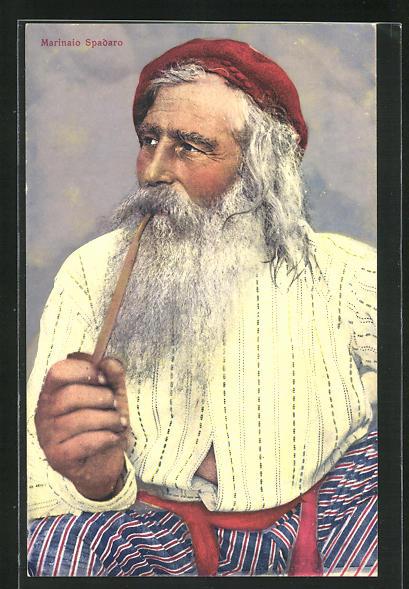 AK Marinaio Spadaro, Fischer aus Neapel