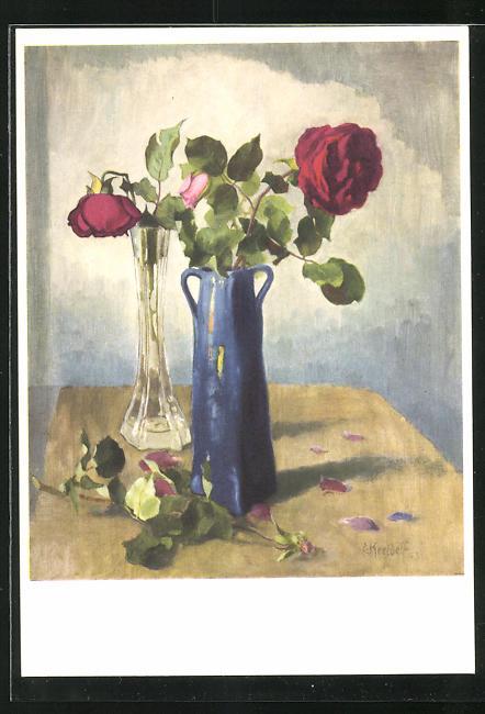 Künstler-AK Ernst Kreidolf: Rose