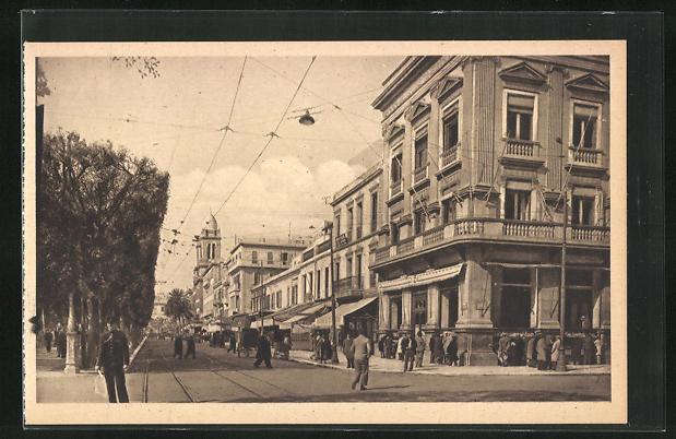 AK Tunis, Avenue Jules-Ferry et Depeche Tunisienne