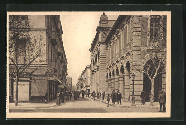 AK Tunis, L`Hotel des Postes et la Rue d`Italie