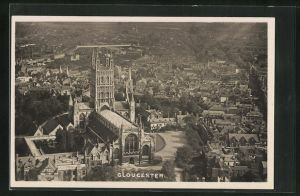 AK Gloucester, Cathedral from an Airco machine flying above