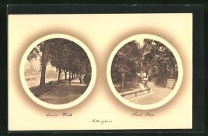 AK Nottingham, Lovers Walk, Park Steps