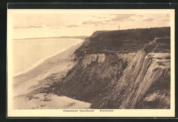 AK Neuhäuser, Steilküste mit Ufer und Ostsee