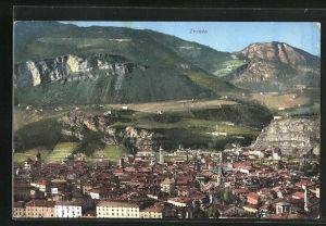 AK Trento, Panoramablick vom Berg
