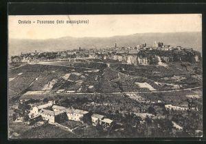 AK Orvieto, Panoramablick vom Berg
