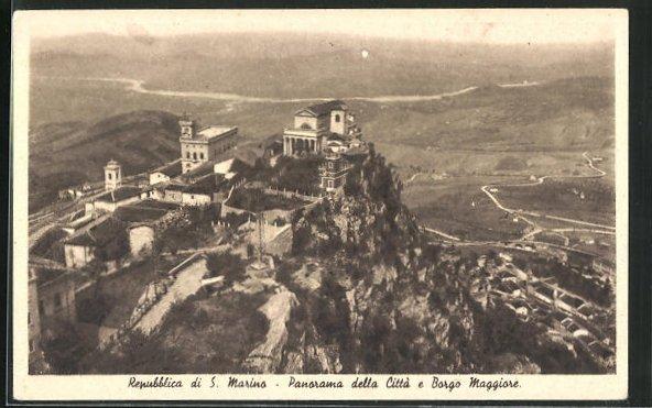 AK San Marino, Panorama della Citta e Borgo Maggiore
