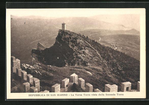 AK San Marino, La Terza Torre vista dalla Seconda Torre