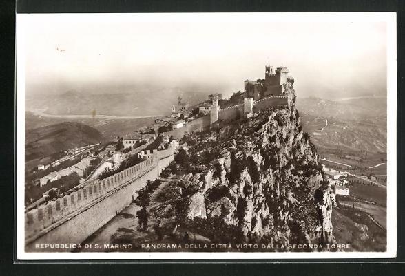 AK San Marino, Panorama della Citta visto dalla Seconda Torre