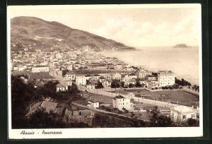 AK Alassio, Panoramablick vom Berg