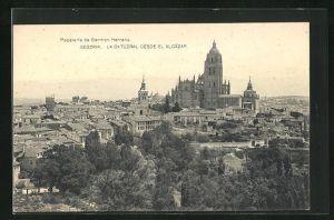 AK Segovia, La Catedral desde el Alcazar
