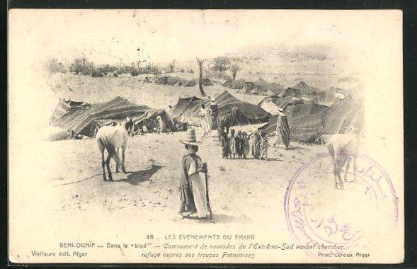 AK Beni-Ounif, Dans le bled, Campement de nomades de l`Extreme-Sud