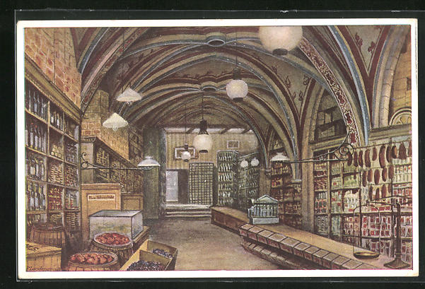AK Breslau, Verkaufshalle des T. O. Schroeterschen Hauses