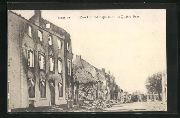 AK Battice, Rue Henri-Chapelle et les Quatre-Bras