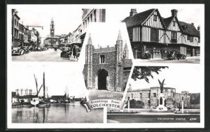 AK Colchester, Abbey Gate, High Street, Hythe Quay, Colchester Castle, Old Siege House