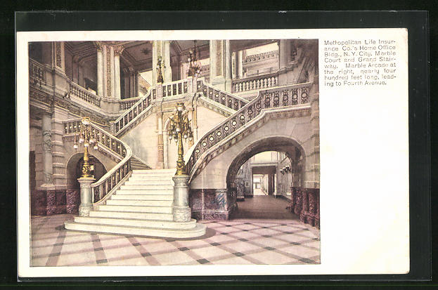 AK New York, NY, Metropoliton Life Insurance Building, Grand Stairway