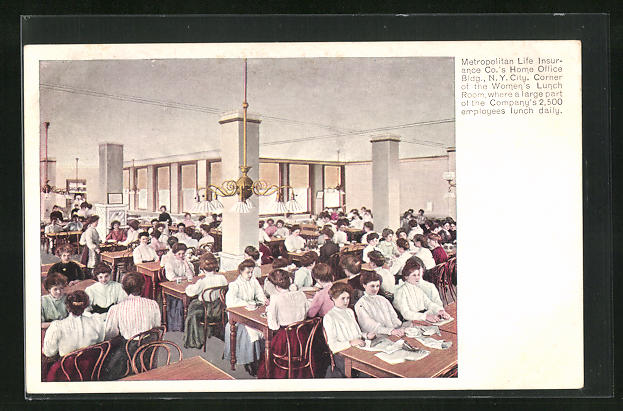 AK New York, NY, Metropolitan Life Insurance Building, Women`s Lunch Room