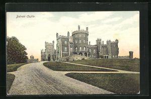 AK Belvoir, Castle mit Auffahrt
