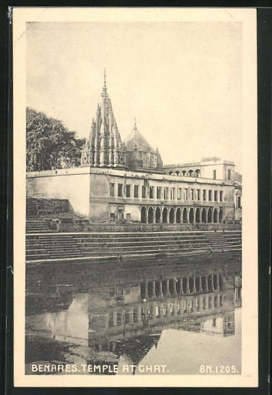 AK Benares, Temple at Ghat