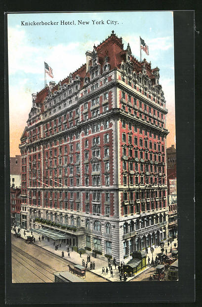 AK New York, NY, Knickerbocker Hotel, Broadway corner of 42nd street