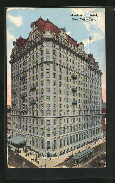 AK New York, NY, Manhattan Hotel, Tramways
