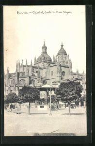 AK Segovia, Catedral, desde la Plaza Mayor