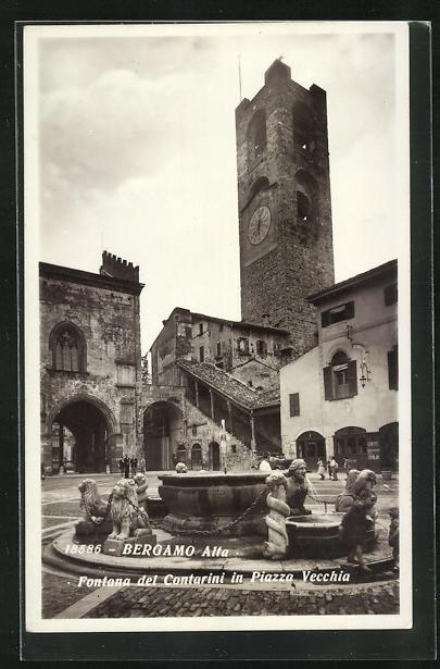 AK Bergamo, Fontana del Contarini in Piazza Vecchia