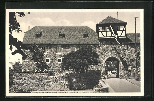 AK Heidelberg, Motiv der Jugendherberge Dilsberg mit