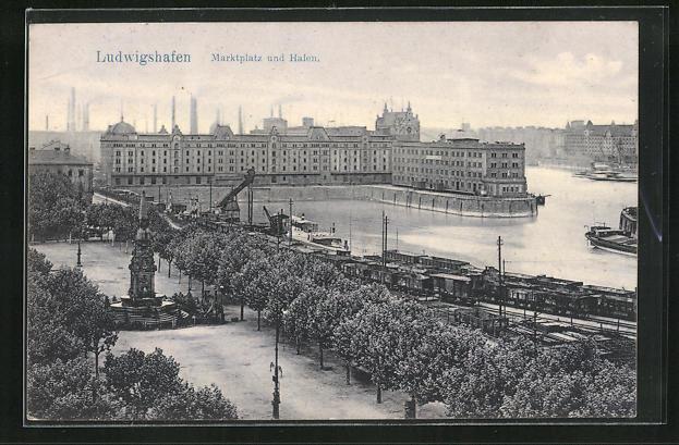 AK Ludwigshafen, Marktplatz und Hafen