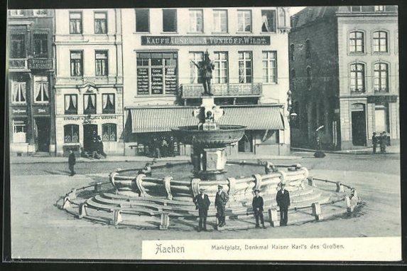 AK Aachen, Marktplatz, Denkmal Kaiser Karl`s des Grossen
