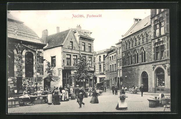 AK Aachen, Partie am Fischmarkt