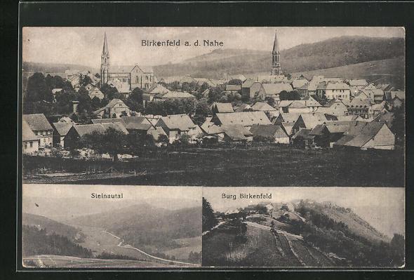 AK Birkenfeld a. d. Nahe, Burg und Steinautal