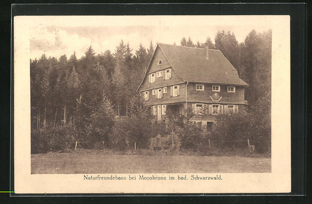 AK Moosbrunn im bad. Schwarzwald, Naturfreundehaus
