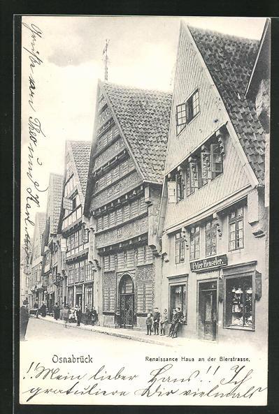 AK Osnabrück, Renaissance Haus in der Bierstrasse
