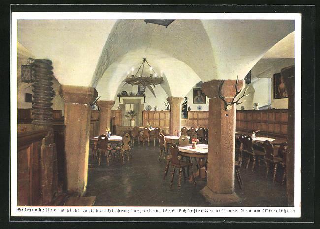 AK Lorch a. Rhein, Gasthaus-Weinschänke Hilchenhaus
