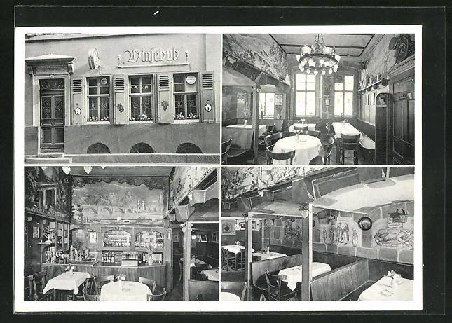 AK Heidelberg, Gasthaus Zum Binsebub, Untere Neckarstrasse 30