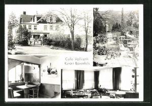 AK Bärenfels, Cafe Vollrath, Innenansichten Gasträume, Terrasse