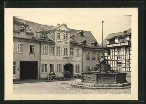 AK Leutenberg-Thür., Gasthaus Stern mit Brunnen
