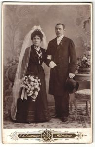 Fotografie F. X. Ostermayr, München, Portrait Braut und Bräutigam, Portrait