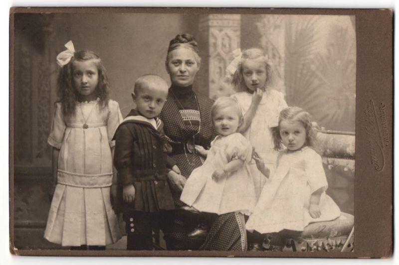 Fotografie Atelier Meister, Montabaur, Portrait Mutter mit 5 Kindern