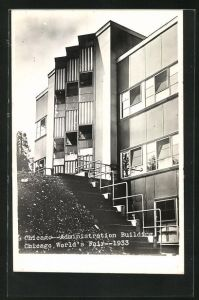 AK Chicago, Welt-Ausstellung / World`s Fair 1933, Administration Building