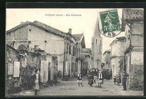 AK Panjas, Rue Nationale, Strassenpartie