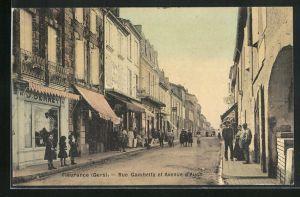 AK Fleurance, Rue Gambetta et Avenue d`Auch