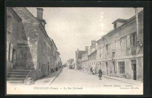 AK Vincelles, La Rue Nationale