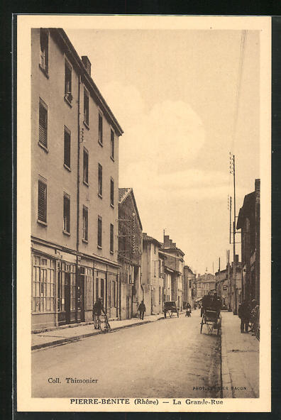 AK Pierre-Bénite, La Grande-Rue, Strassenpartie
